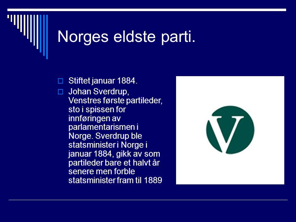Norges eldste parti. Stiftet januar 1884.