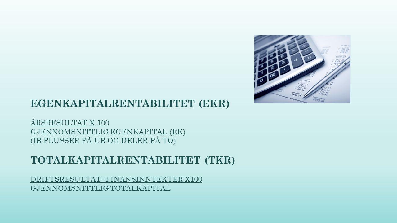 EGENKAPITALRENTABILITET (EKR)