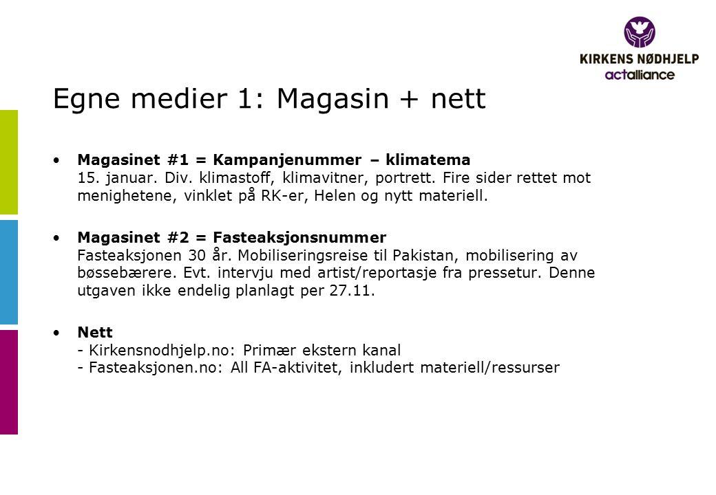 Egne medier 1: Magasin + nett