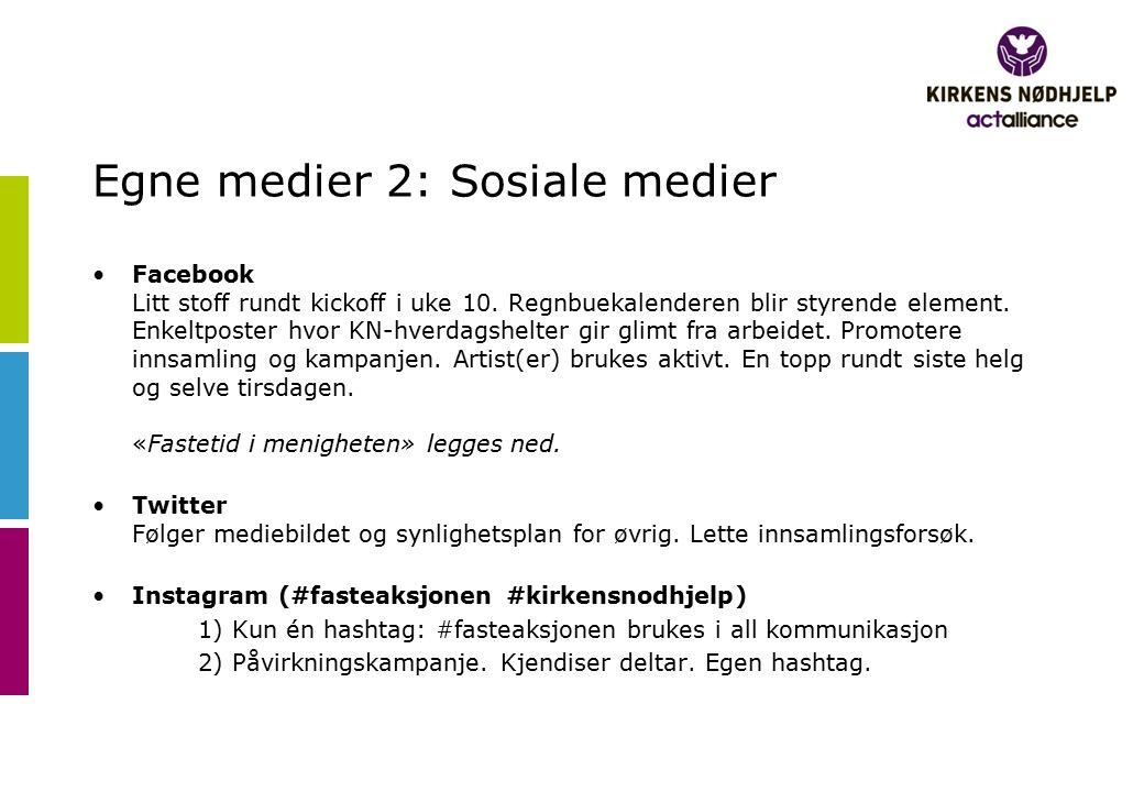 Egne medier 2: Sosiale medier