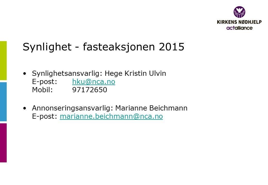 Synlighet - fasteaksjonen 2015