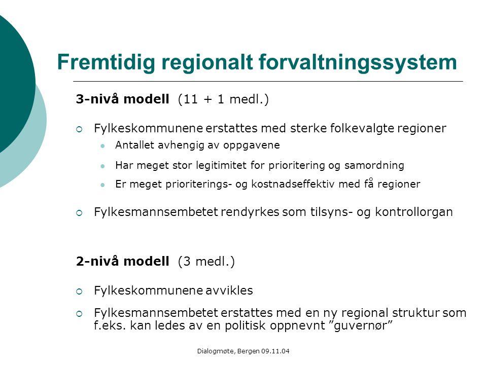 Fremtidig regionalt forvaltningssystem