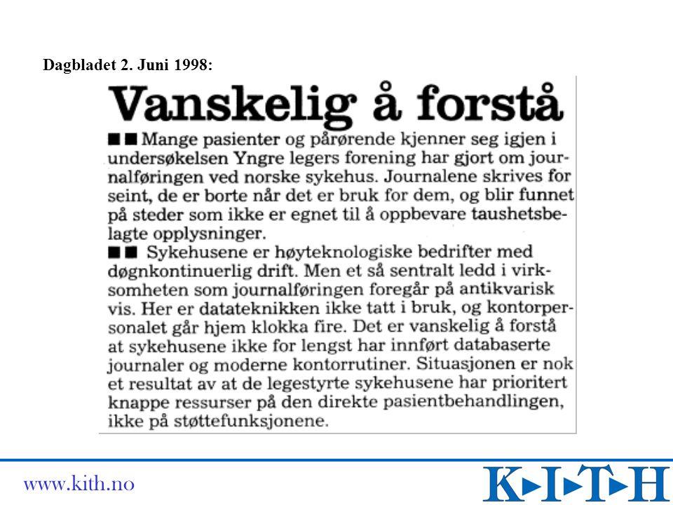 Dagbladet 2. Juni 1998: