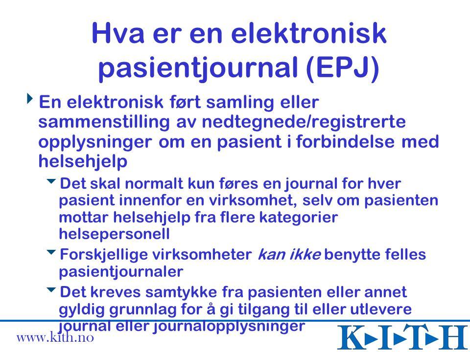 Hva er en elektronisk pasientjournal (EPJ)
