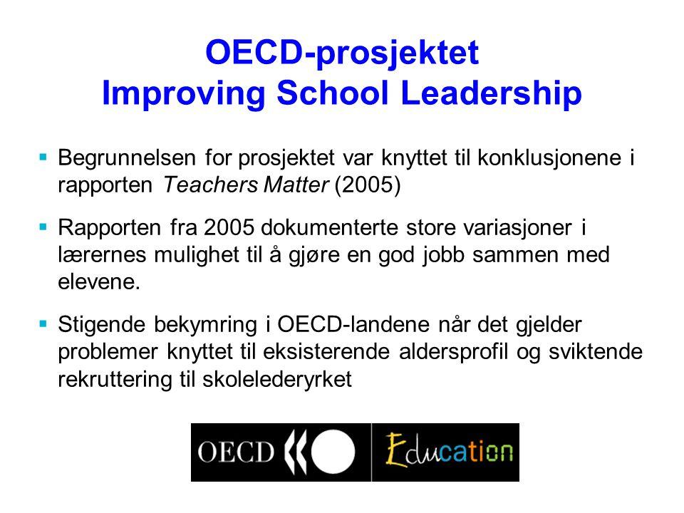 OECD-prosjektet Improving School Leadership