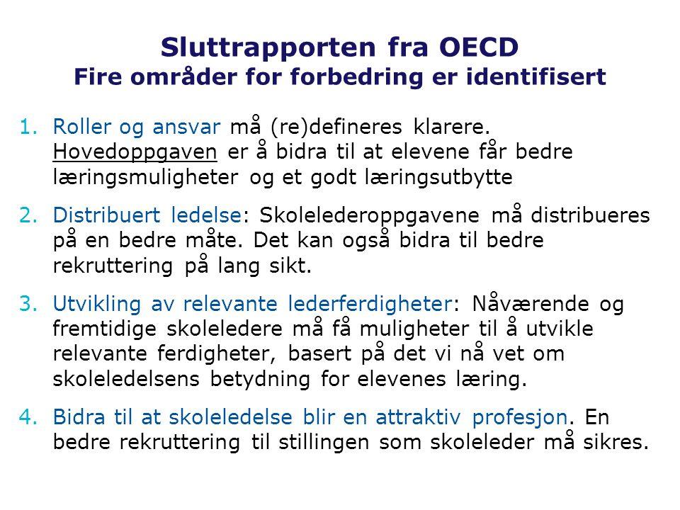 Sluttrapporten fra OECD Fire områder for forbedring er identifisert
