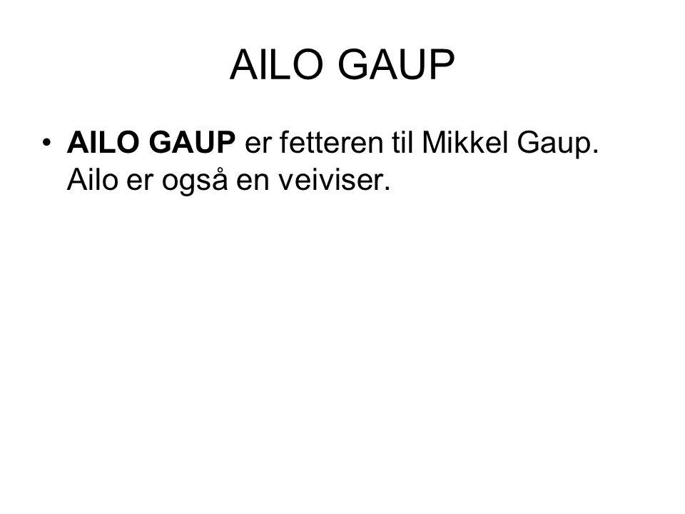 AILO GAUP AILO GAUP er fetteren til Mikkel Gaup. Ailo er også en veiviser.