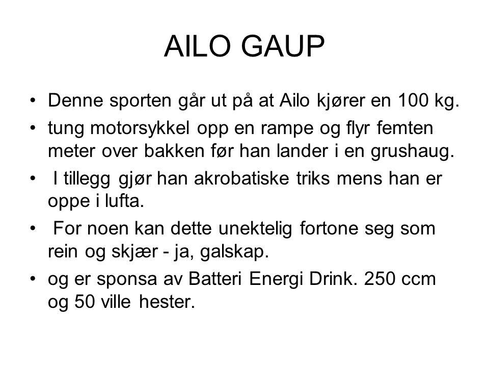 AILO GAUP Denne sporten går ut på at Ailo kjører en 100 kg.