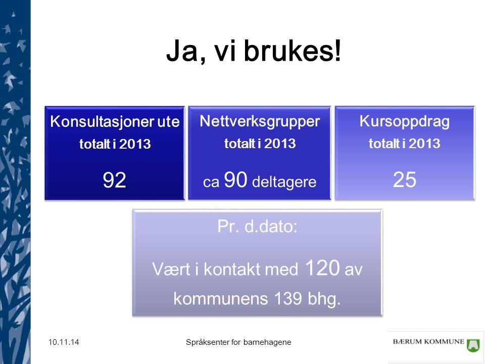Konsultasjoner ute totalt i 2013 Nettverksgrupper totalt i 2013