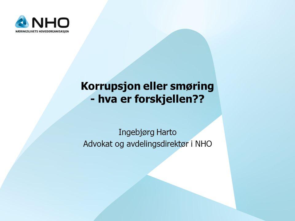 Korrupsjon eller smøring - hva er forskjellen