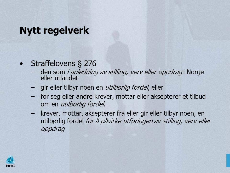 Nytt regelverk Straffelovens § 276
