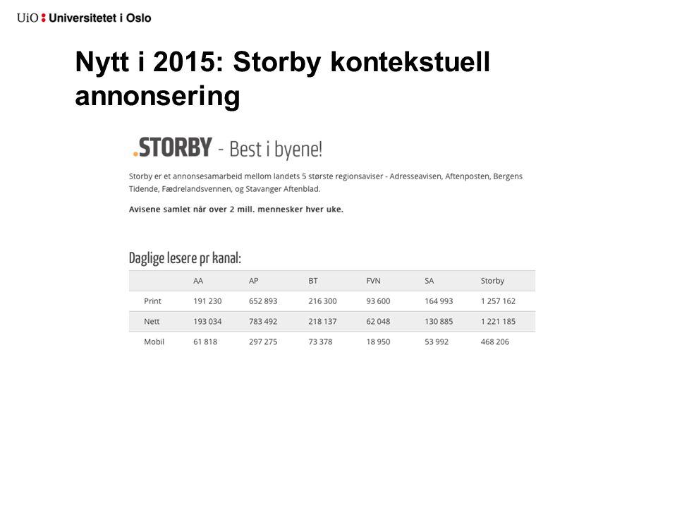 Nytt i 2015: Storby kontekstuell annonsering