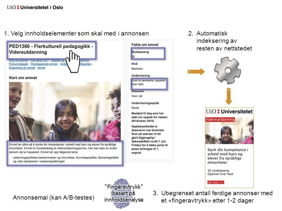 Fingeravtrykk basert på innholdsanalyse