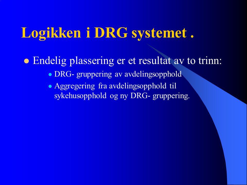 Logikken i DRG systemet .