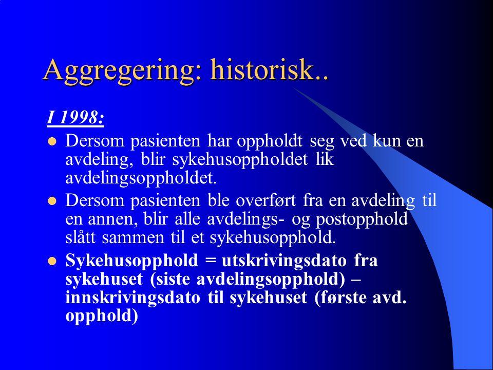 Aggregering: historisk..
