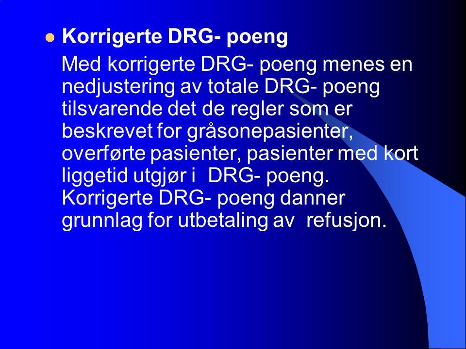 Korrigerte DRG- poeng