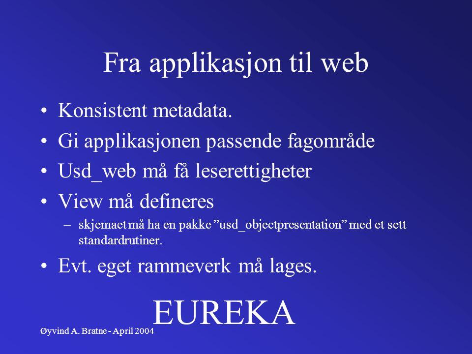 Fra applikasjon til web