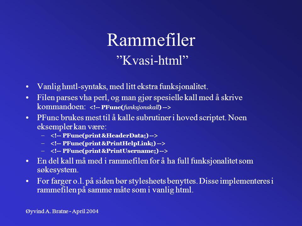Rammefiler Kvasi-html