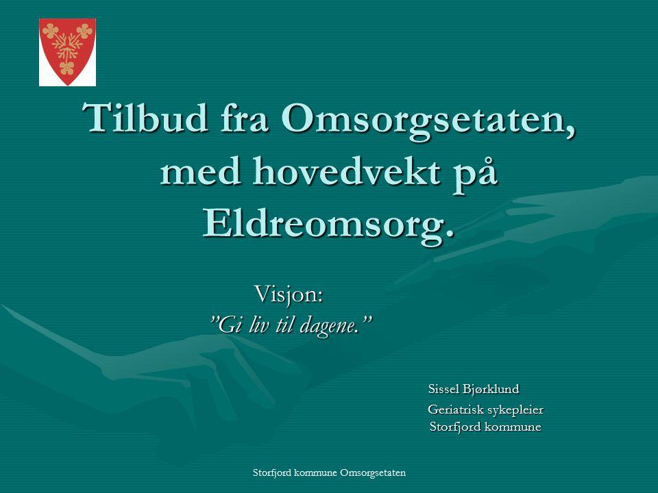 Tilbud fra Omsorgsetaten, med hovedvekt på Eldreomsorg.