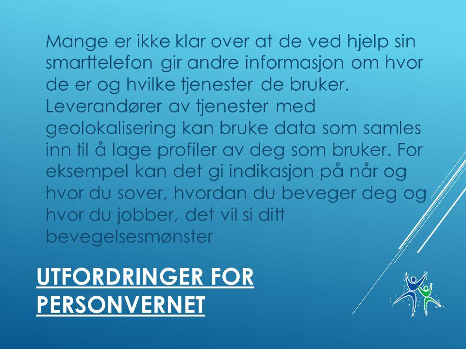 Utfordringer for personvernet