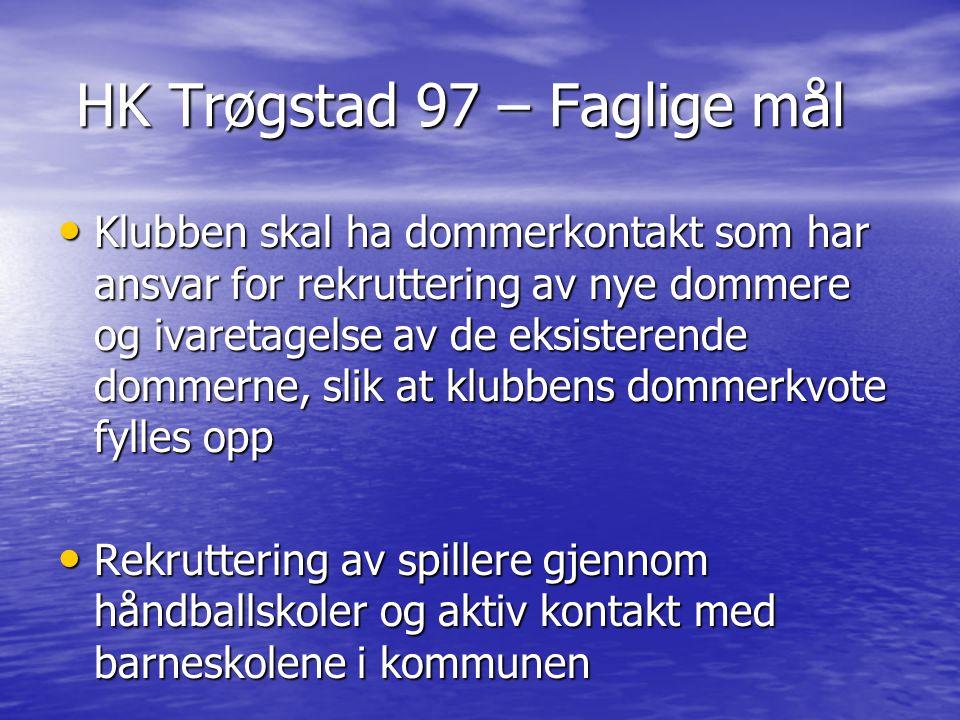 HK Trøgstad 97 – Faglige mål