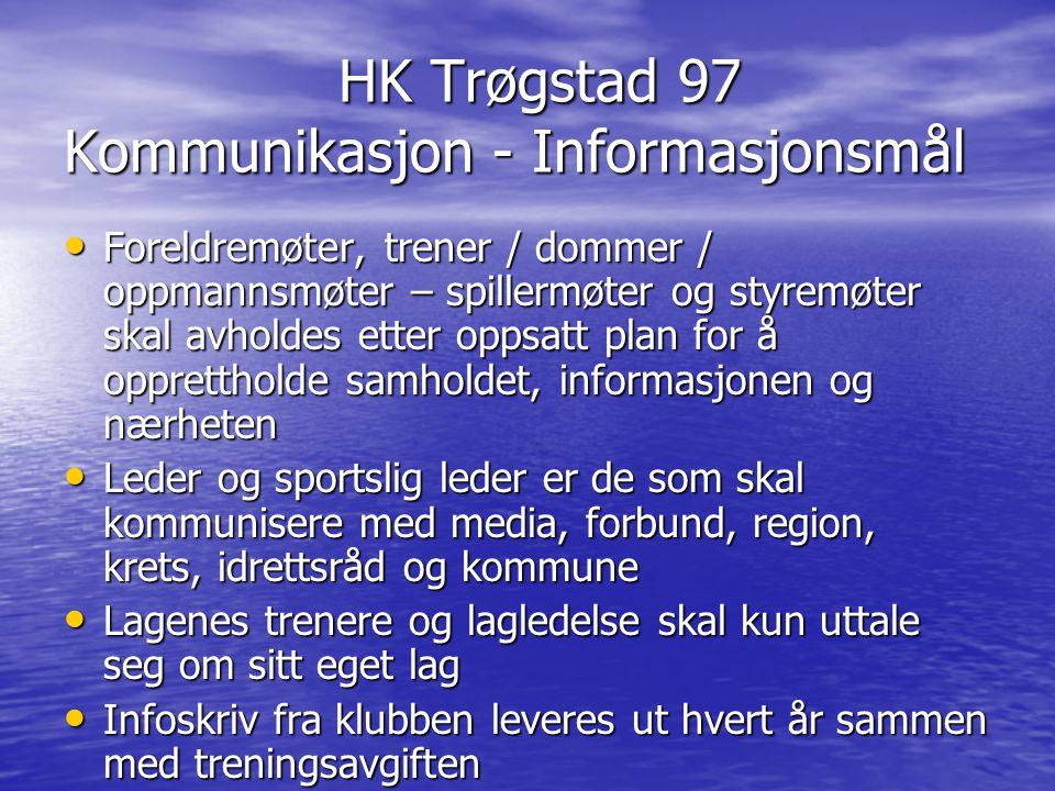 HK Trøgstad 97 Kommunikasjon - Informasjonsmål