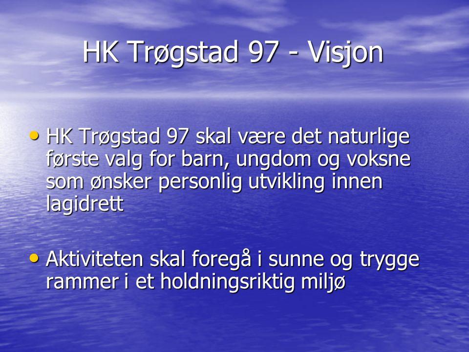 HK Trøgstad 97 - Visjon HK Trøgstad 97 skal være det naturlige første valg for barn, ungdom og voksne som ønsker personlig utvikling innen lagidrett.