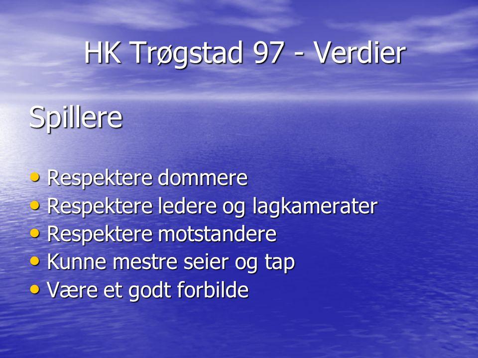 HK Trøgstad 97 - Verdier Spillere Respektere dommere