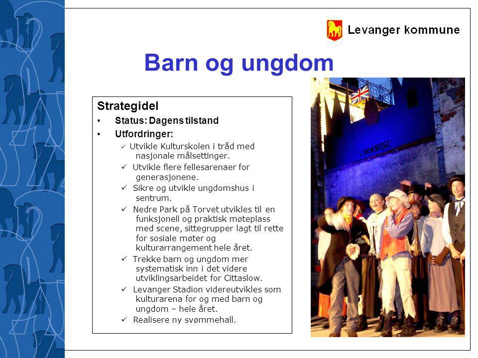 Barn og ungdom Strategidel Status: Dagens tilstand Utfordringer: