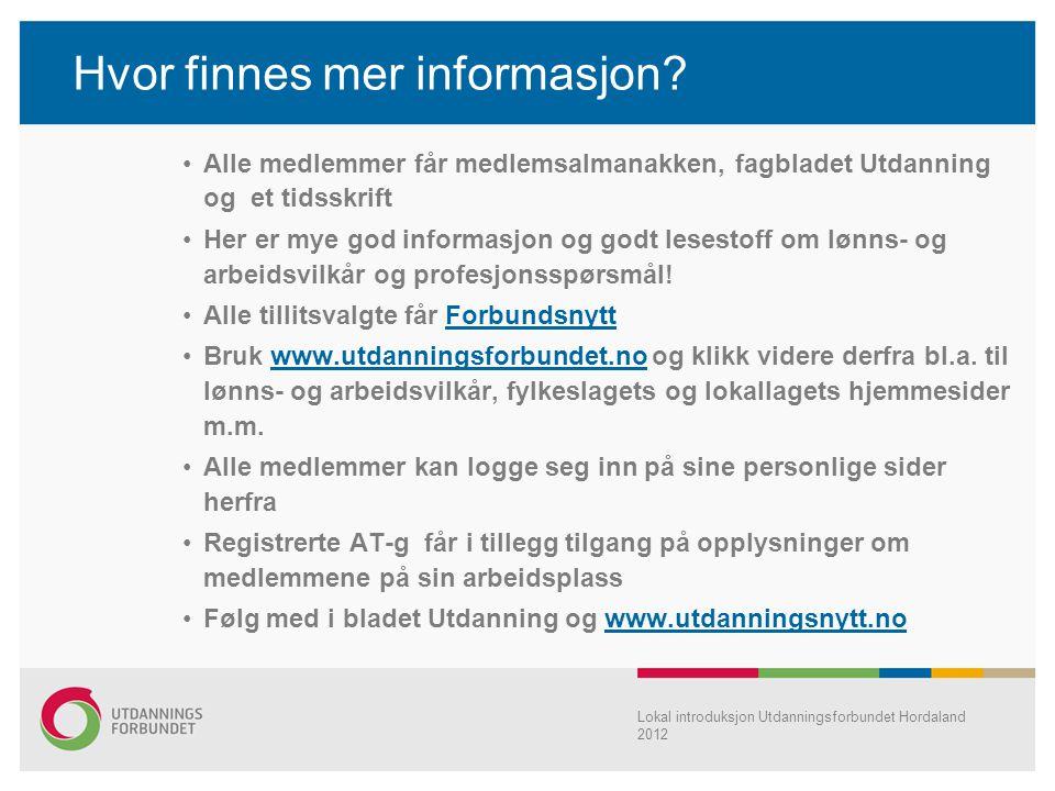 Hvor finnes mer informasjon