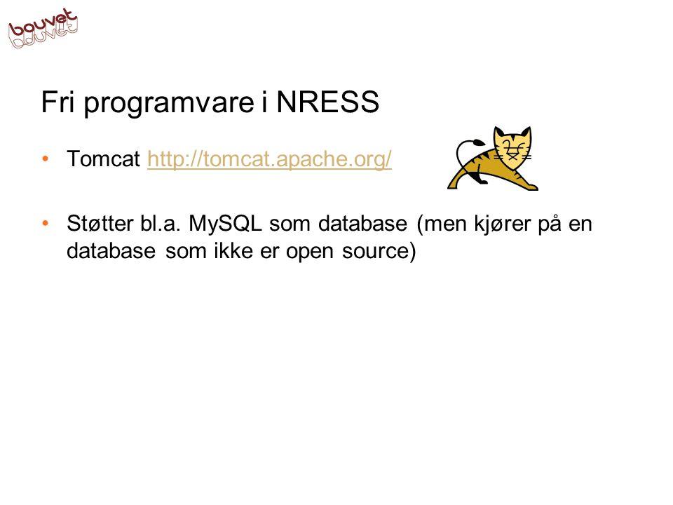 Fri programvare i NRESS