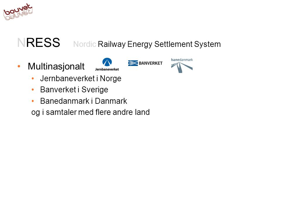 NRESS Nordic Railway Energy Settlement System