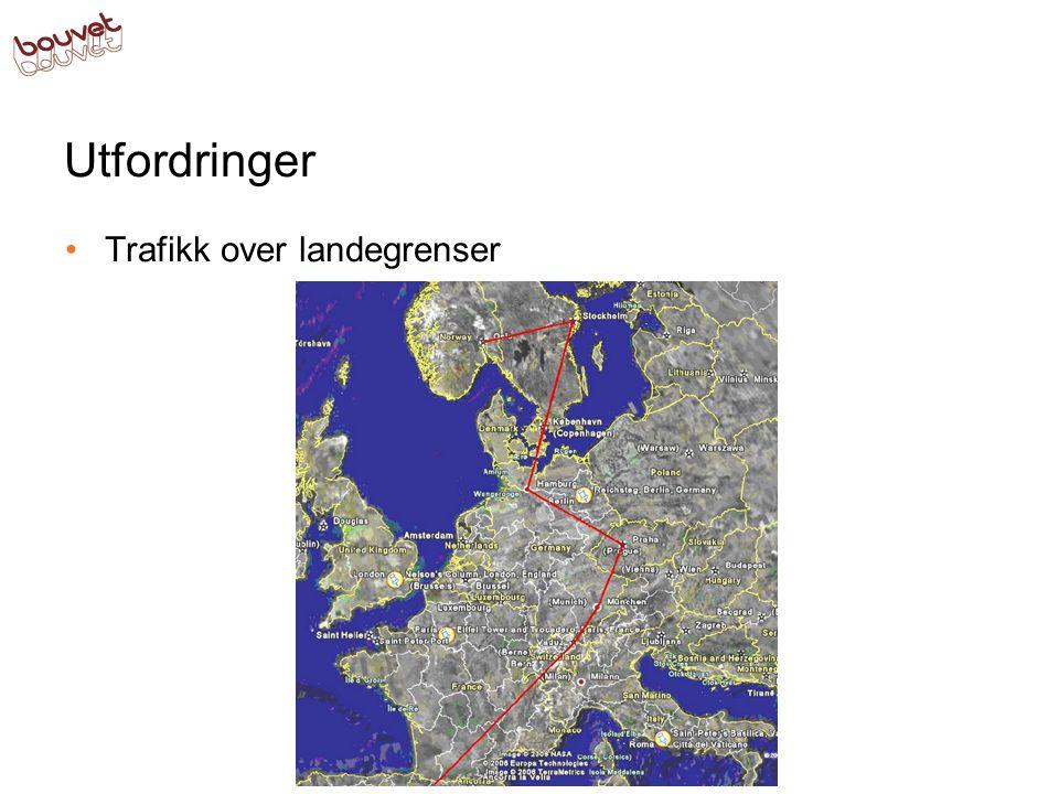 Utfordringer Trafikk over landegrenser