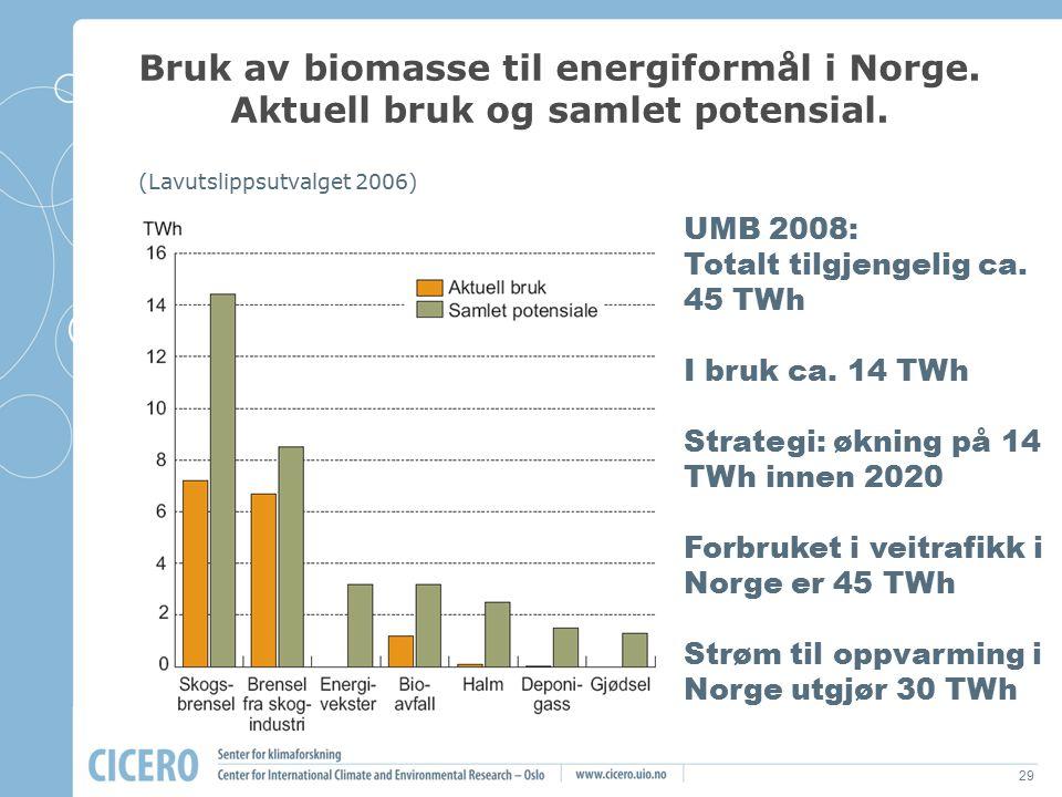 Bruk av biomasse til energiformål i Norge