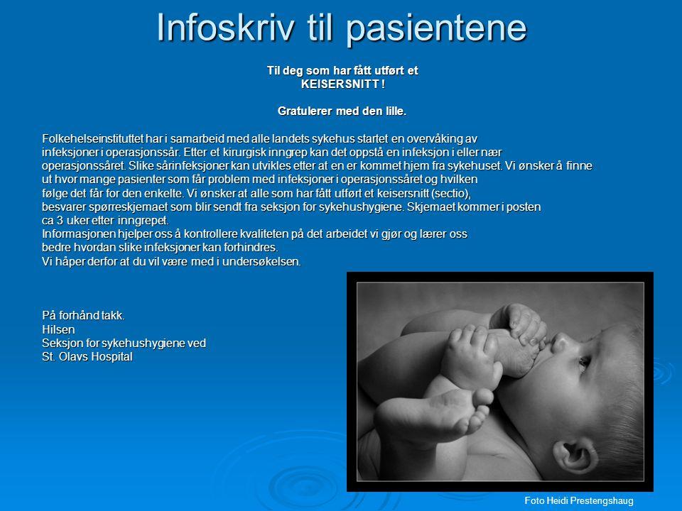 Infoskriv til pasientene