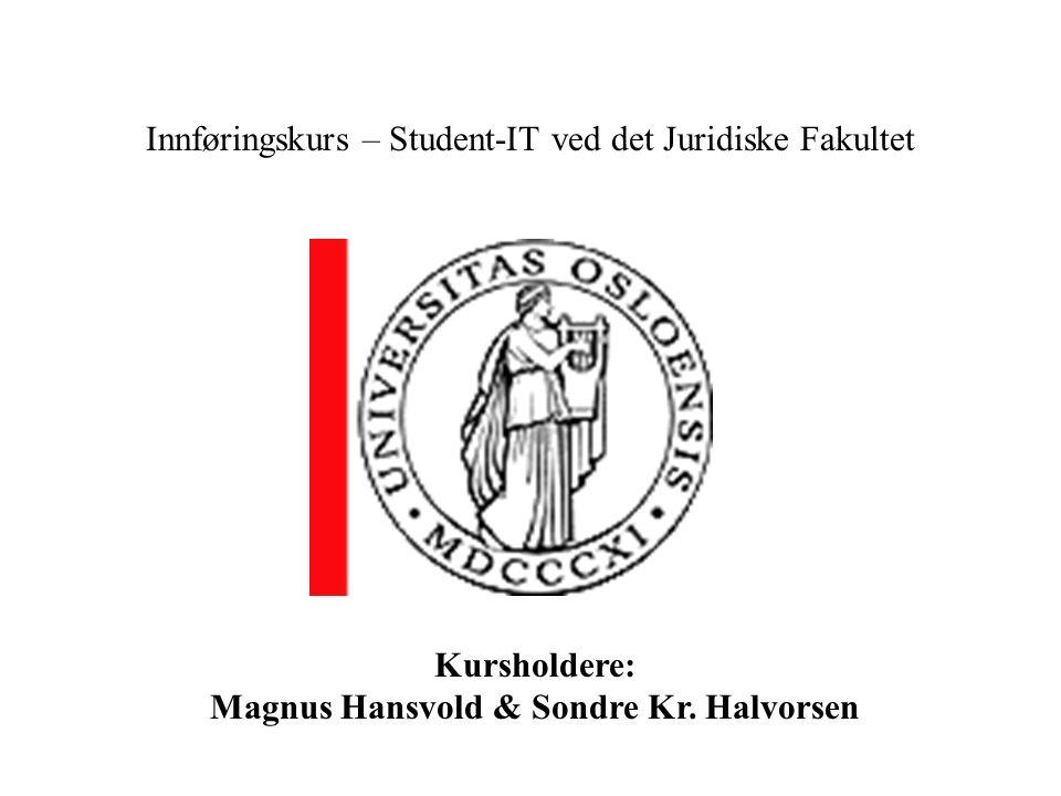 Innføringskurs – Student-IT ved det Juridiske Fakultet
