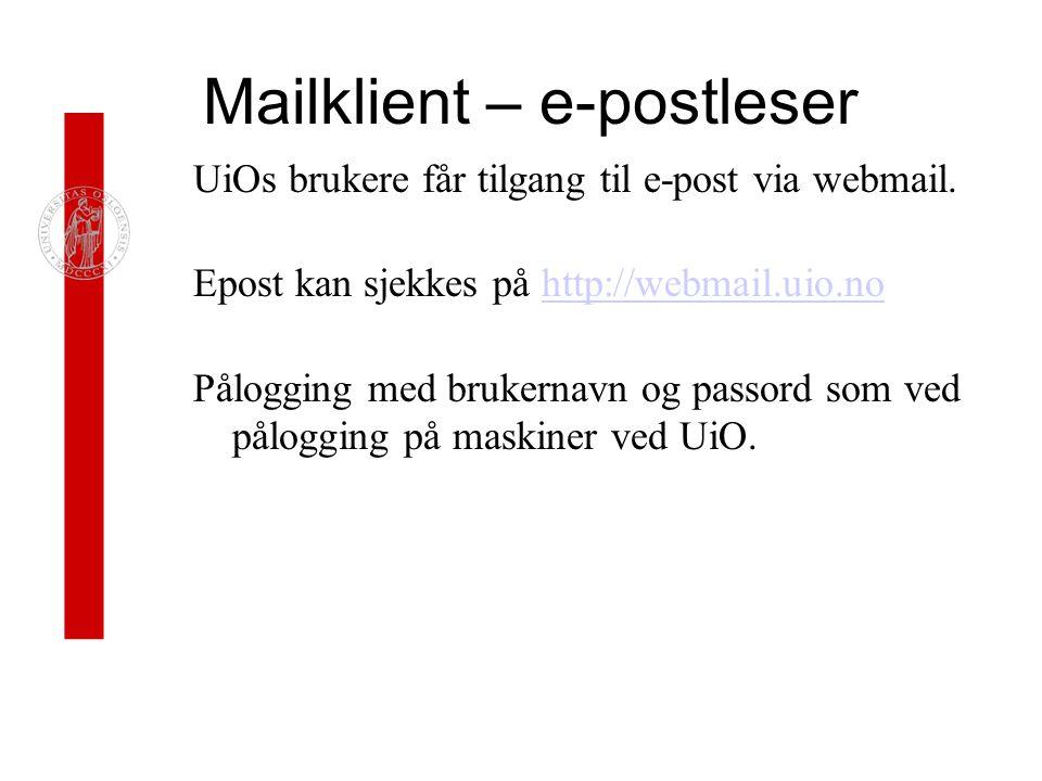 Mailklient – e-postleser