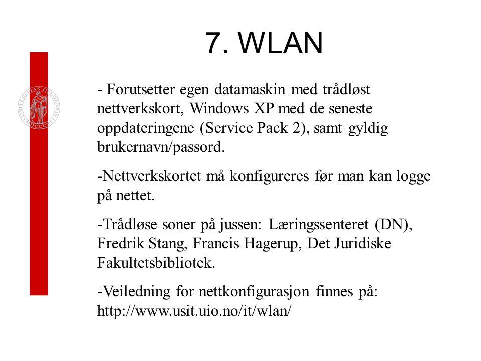 7. WLAN