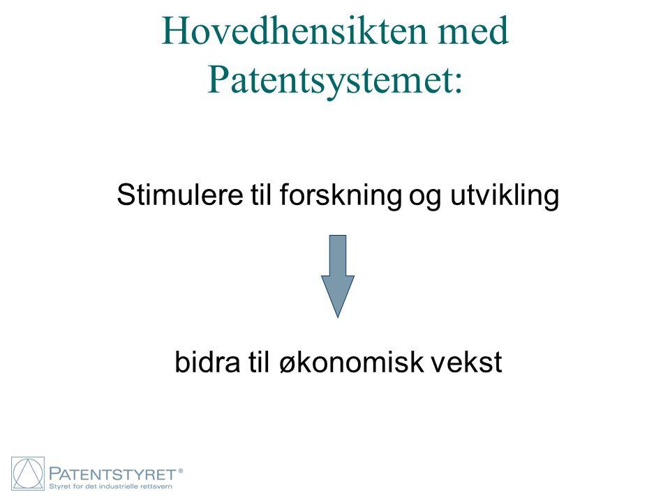 Hovedhensikten med Patentsystemet: