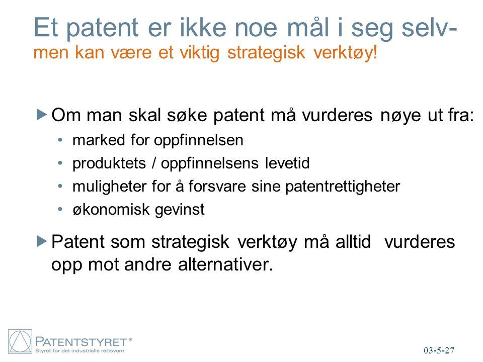 Et patent er ikke noe mål i seg selv- men kan være et viktig strategisk verktøy!