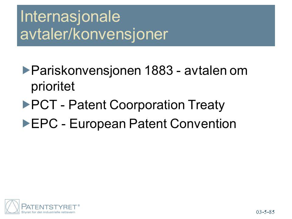 Internasjonale avtaler/konvensjoner