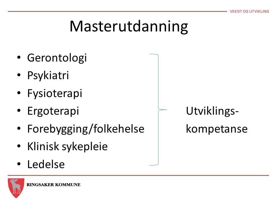 Masterutdanning Gerontologi Psykiatri Fysioterapi