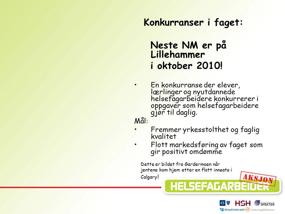 Neste NM er på Lillehammer i oktober 2010!