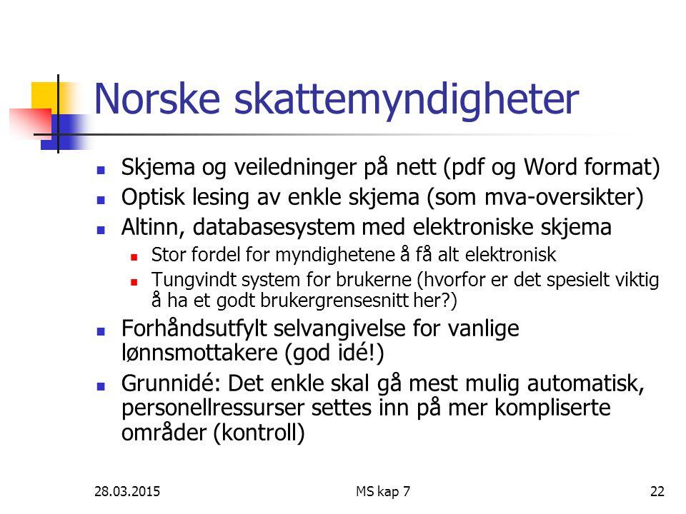 Norske skattemyndigheter