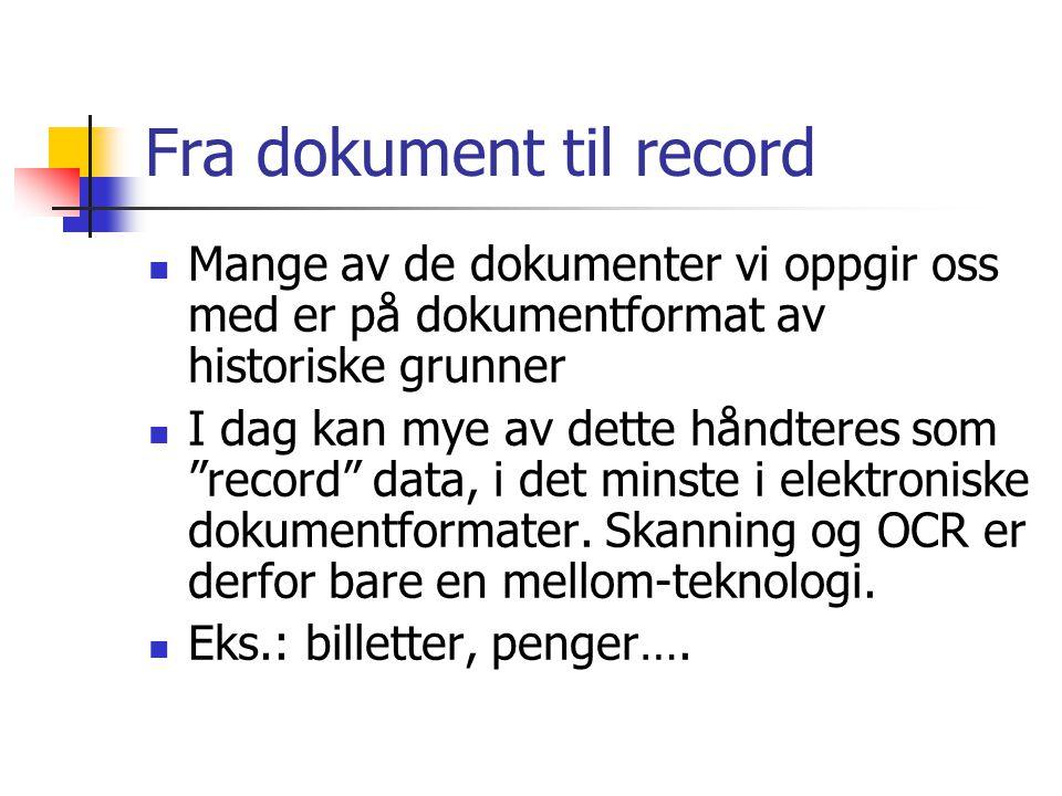Fra dokument til record