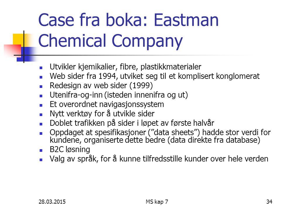 Case fra boka: Eastman Chemical Company