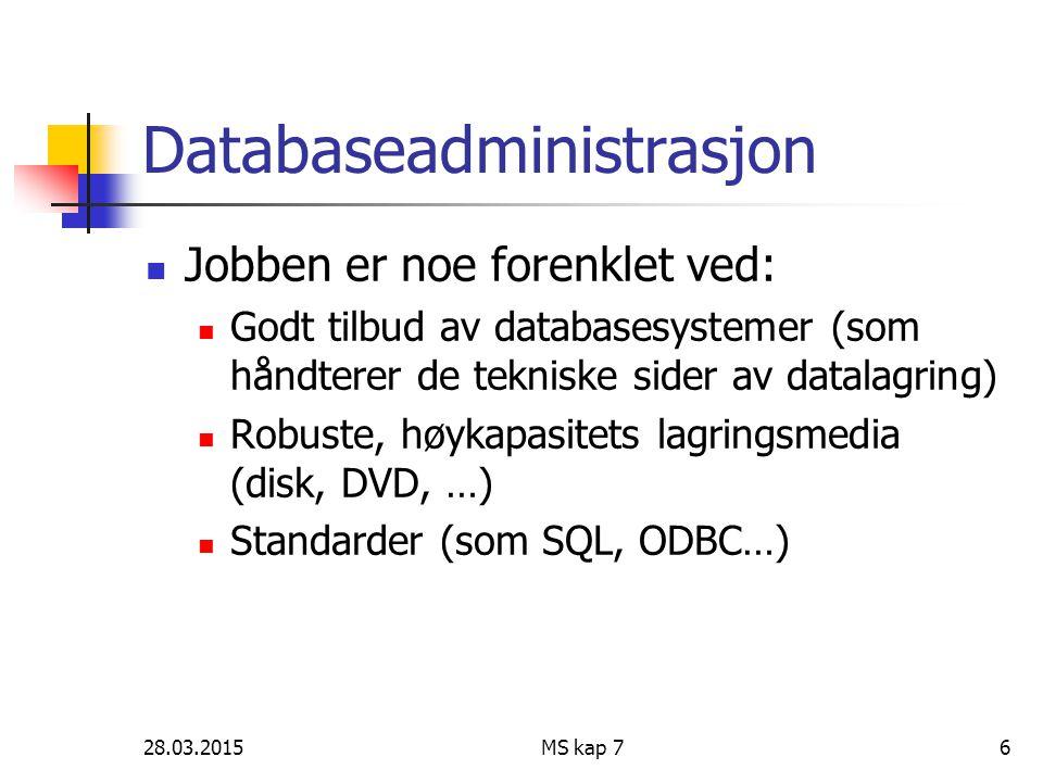 Databaseadministrasjon