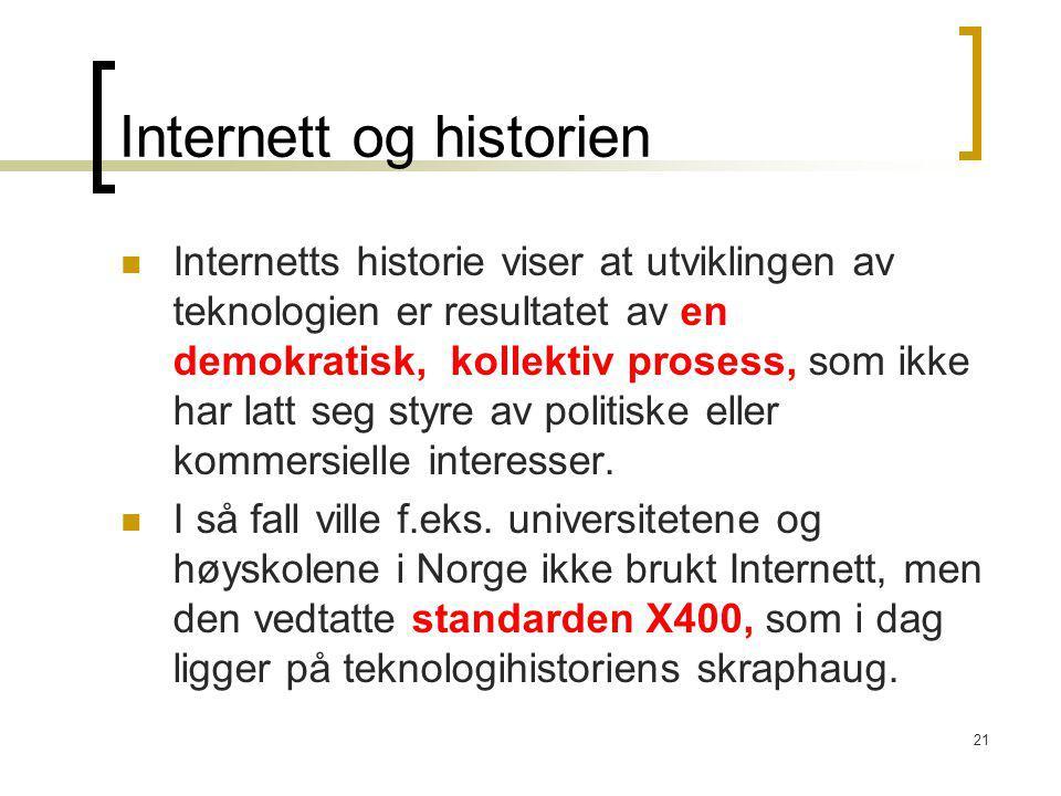 Internett og historien
