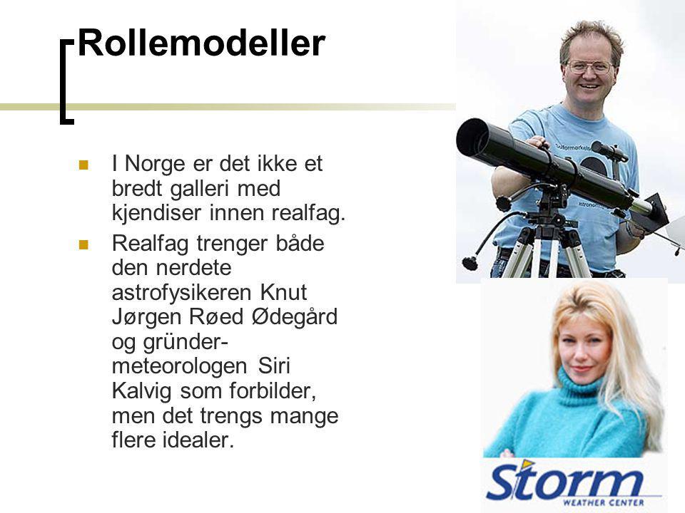 Rollemodeller I Norge er det ikke et bredt galleri med kjendiser innen realfag.