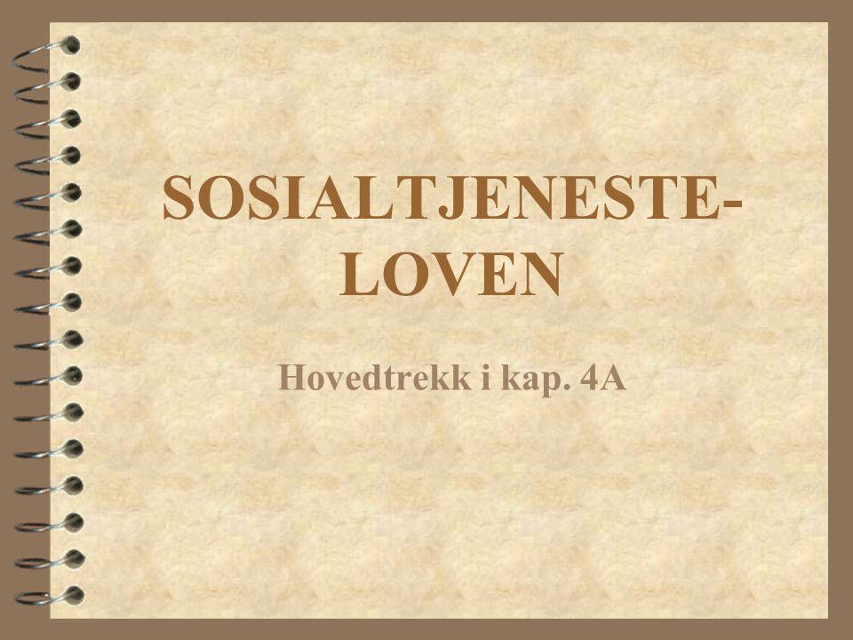 SOSIALTJENESTE-LOVEN